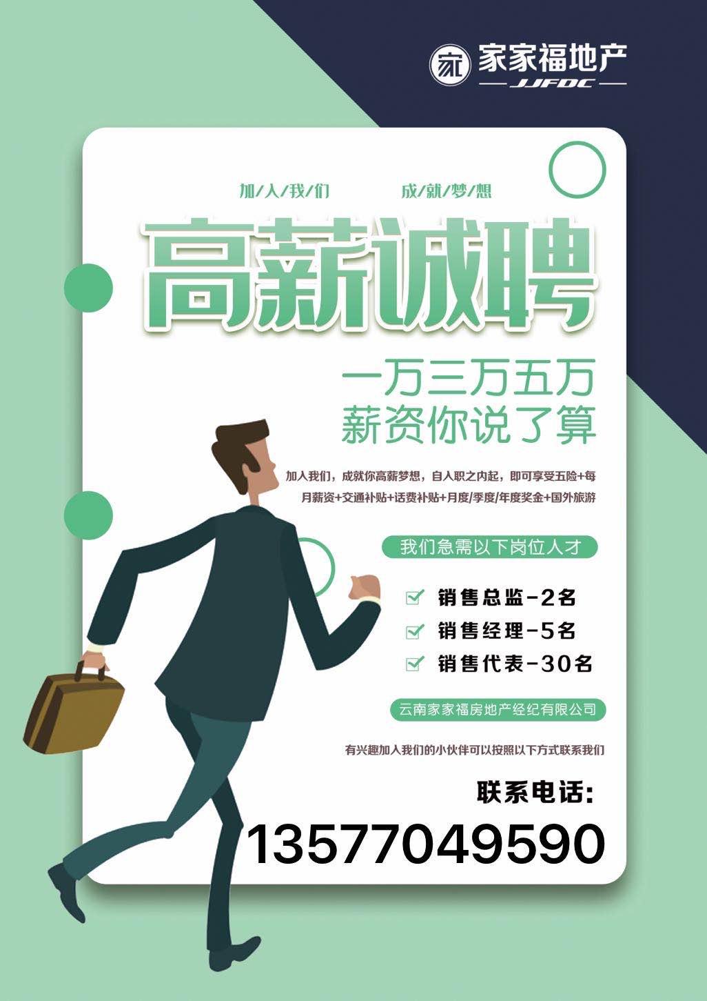 云南家家福房地产经济有限公司_昆明招聘网